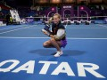 Петра Квитова — Гарбинье Мугуруса: Видеообзор финала Qatar Total Open