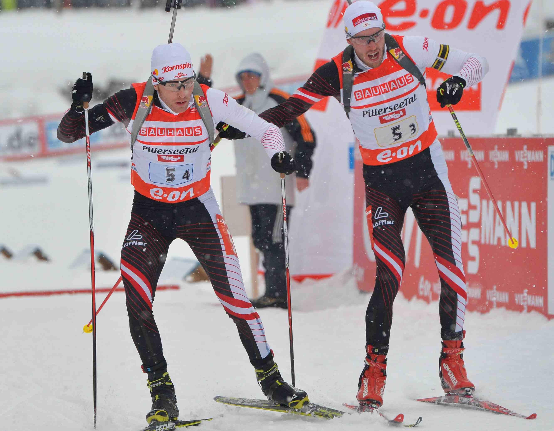 Сборная Австрии выиграла эстафету в Рупольдинге