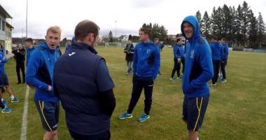 Сборная Украины начала тренировки перед матчем с Хорватией