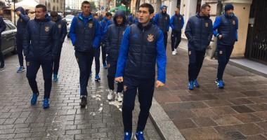 Украина – Косово: Прогулка и тренировка накануне матча отбора ЧМ-2018