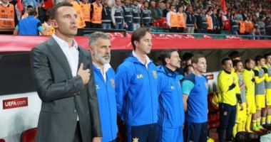 Шевченко провел тренировку сборной Украины сразу после матча с Турцией