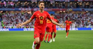 Англия - Бельгия: шикарный гол обводящим ударом от Янузая
