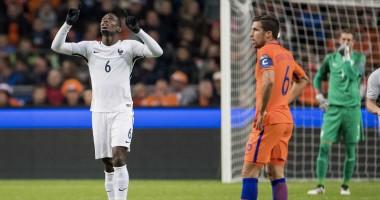 Пушечный гол Погба в ворота Нидерландов в матче отбора ЧМ-2018