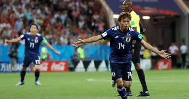 Бельгия - Япония: отличный удар Инуи, удвоивший преимущество Японии