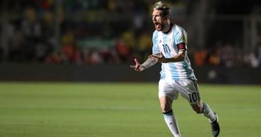 Фантастический гол Месси за сборную Аргентины в матче отбора ЧМ-2018
