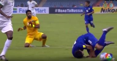 Видео нелепого арбитража в матче Саудовской Аравии и Таиланда
