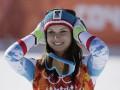 Австрийская горнолыжница на пределе своих сил выиграла супергигант