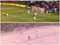 Матч MLS начался на траве, а закончился в снегу