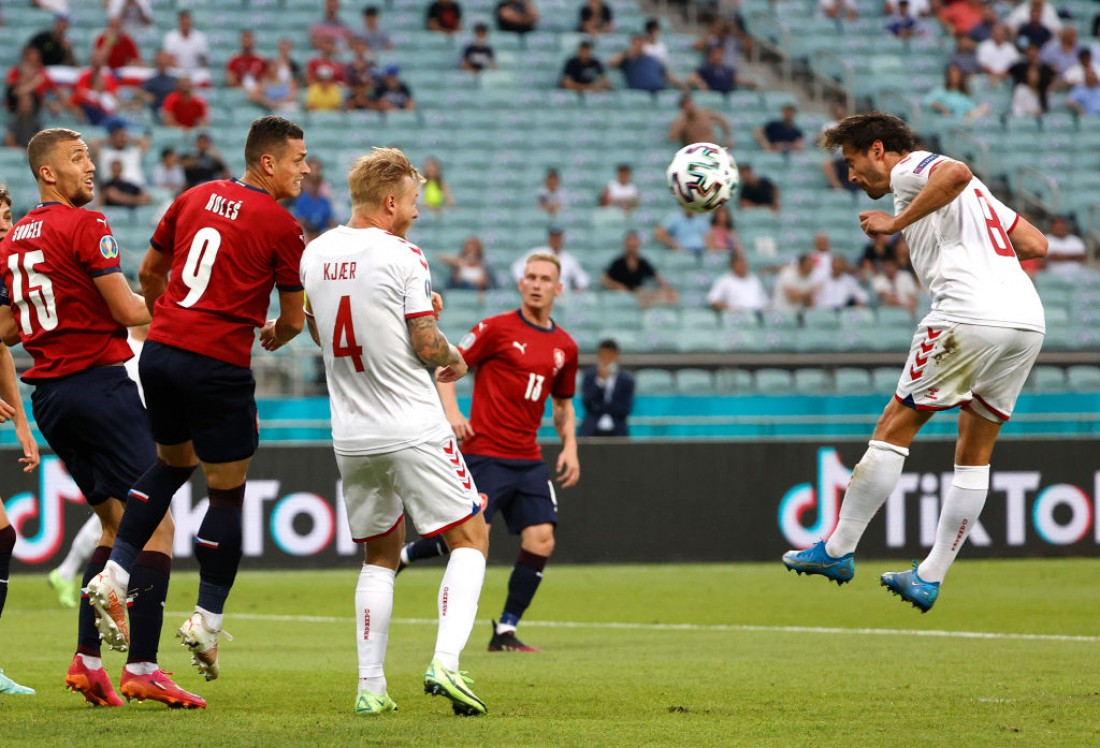 Дания обыграла Чехию в 1/4 финала Евро-2020