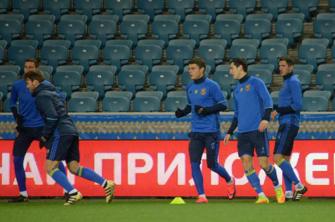 Тренировка национальной сборной Украины