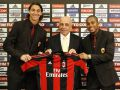 Милан официально представил Ибрагимовича и Робиньо