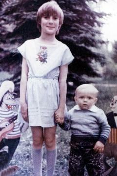 Маленький Александр Усик с сестрой Викторией