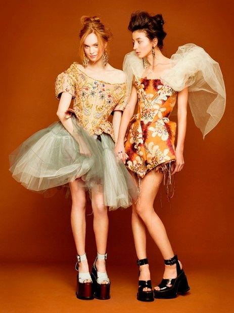 Эвелина с Луизой Бьянчин для Vivienne Westwood Couture