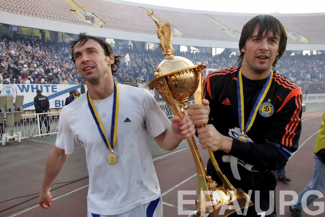 Владислав Ващук и Александр Шовковский с Кубком Украины