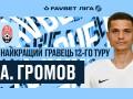 Громов - лучший футболист 12-го тура чемпионата Украины