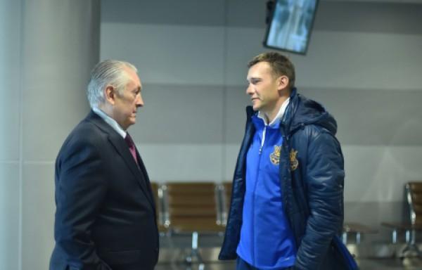 Михаил Фоменко и Андрей Шевченко