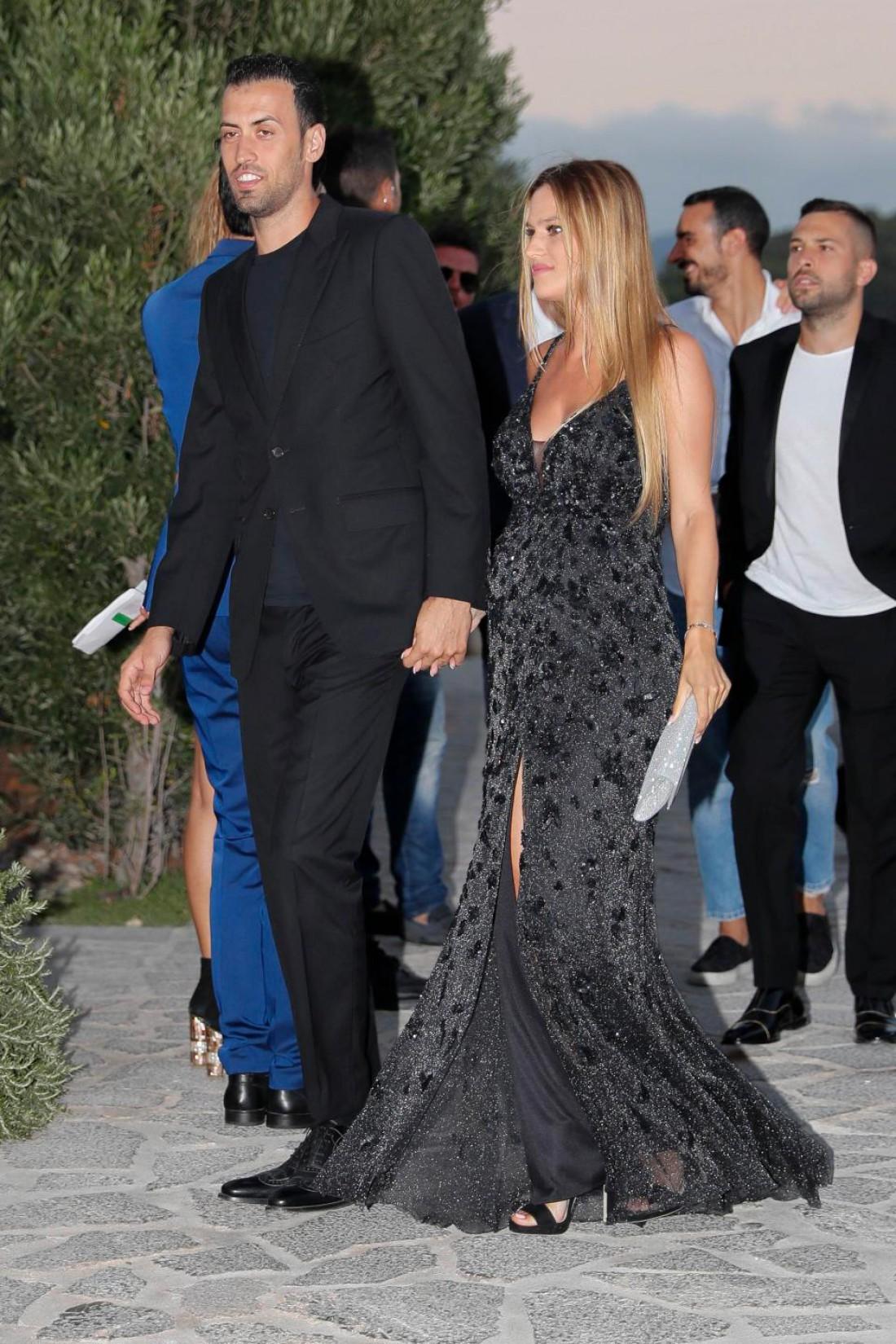 Серхио Бускетс с супругой Еленой Галерой