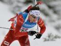 Легендарный биатлонист Бьорндален завоевывает золото в спринте