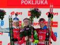 Домрачева и Ферри выиграли масс-старты на этапе Кубка мира в Поклюке