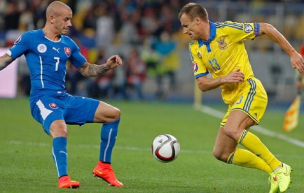 Сборная Украины проиграла Словакии на НСК Олимпийский