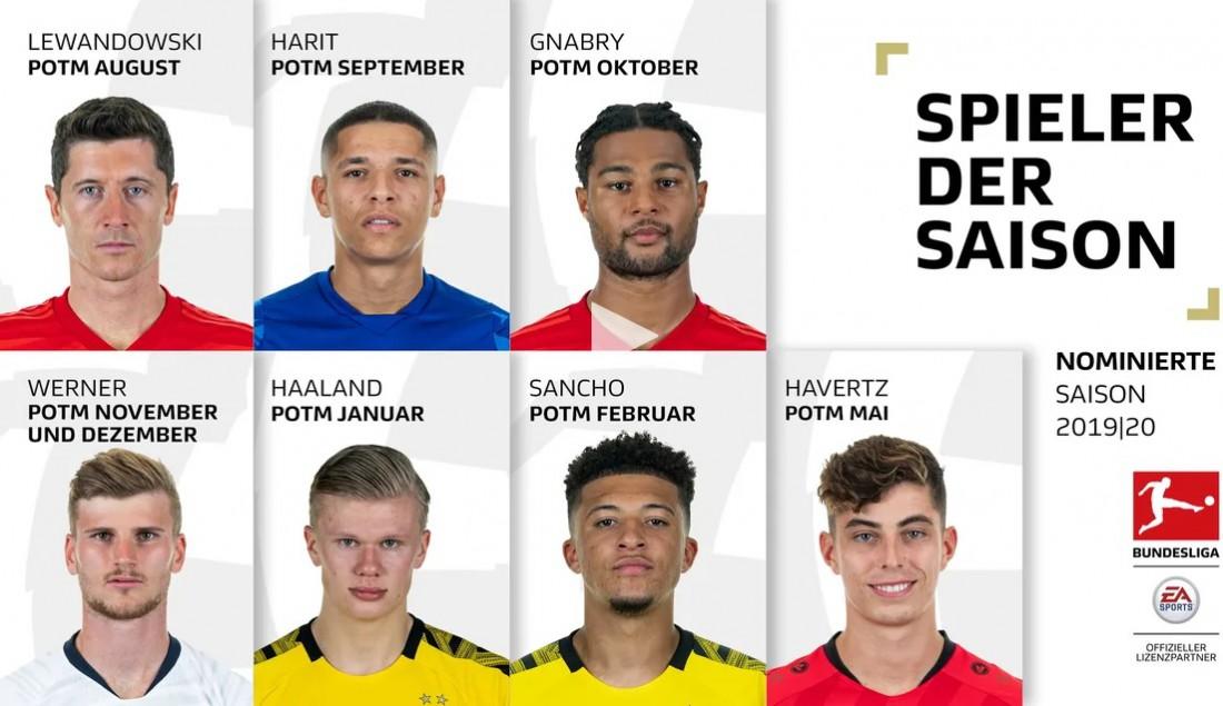 Претенденты на звание лучшего игрока сезона в Бундеслиге