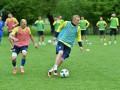 Сборная Украины провела первую тренировку в Швейцарии