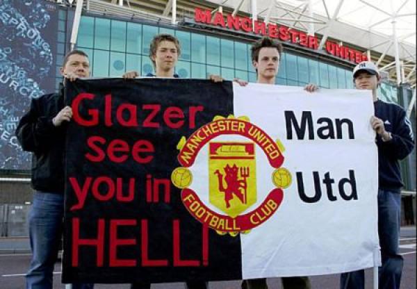 Болельщики не любят американских владельцев Манчестер Юнайтед
