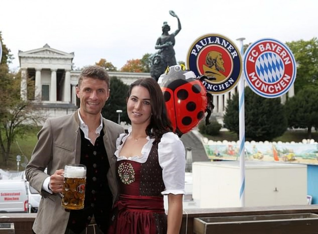 Игроки Баварии посетили Октоберфест