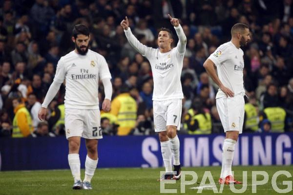 Роналду забил три гола в ворота Эспаньола
