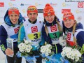 Биатлон: Украина выиграла в смешанной эстафете на Кубке IBU