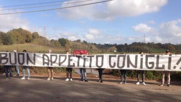 Фанаты Ромы провели акцию протеста