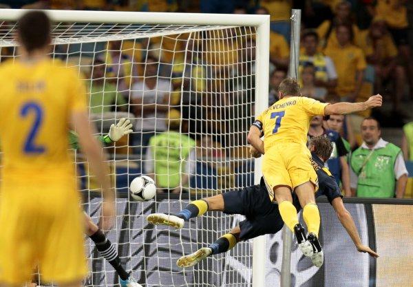 Шева сделал дубль в матче со шведами