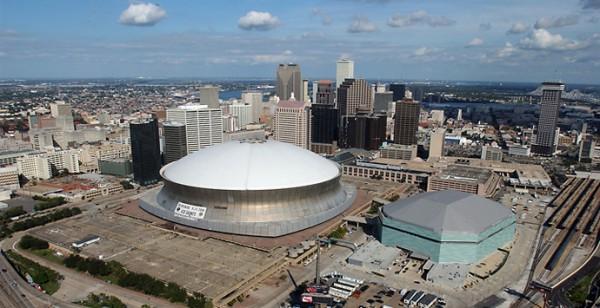 Стадион Superdome в Новом Орлеане - место проведения Супербоула 2013