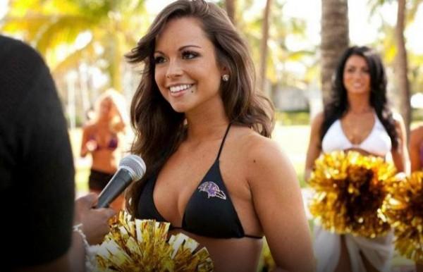 Кортни - специалист в сфере маркетинга, черлидер Baltimore Ravens и просто красавица. Она вместе с 20-ю напарницами будет поддерживать свою команду в Супербоуле 2013