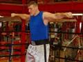 На открытой тренировке Вах избил портрет Кличко