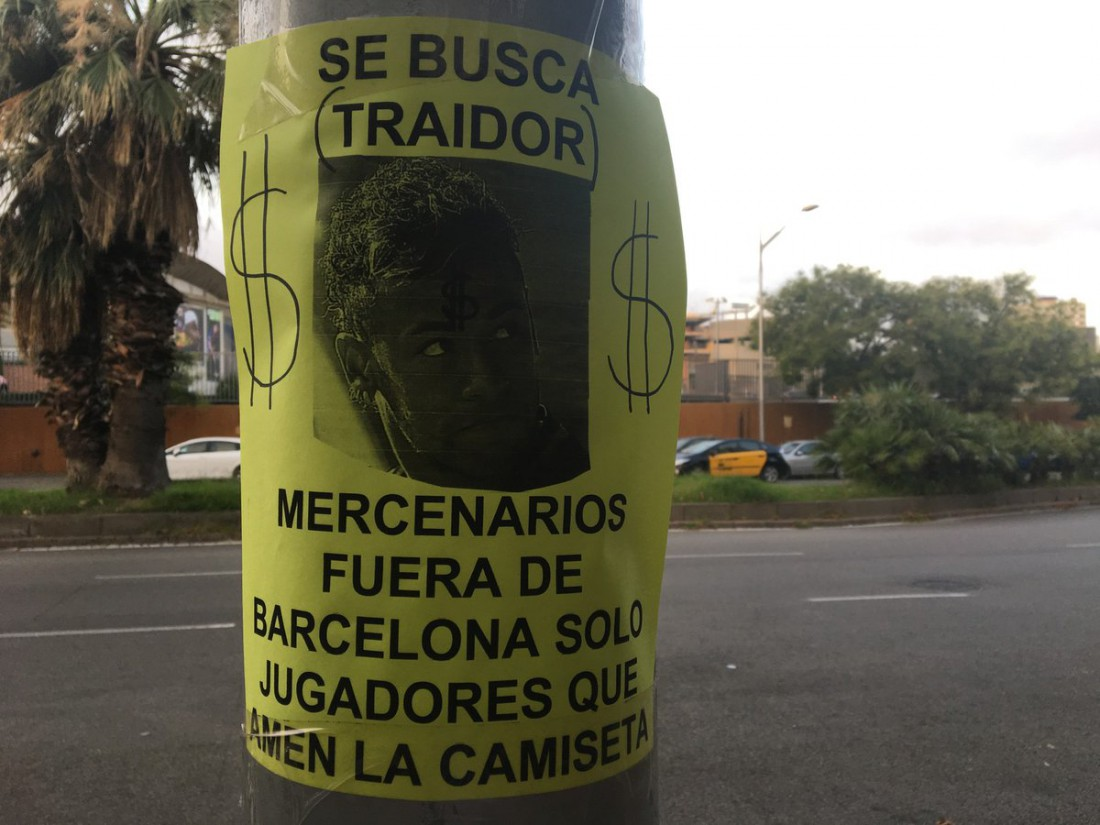 Болельщики против Неймара в Барселоне