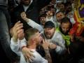 Рамос после победы над Баварией забрался к фанатам Реала