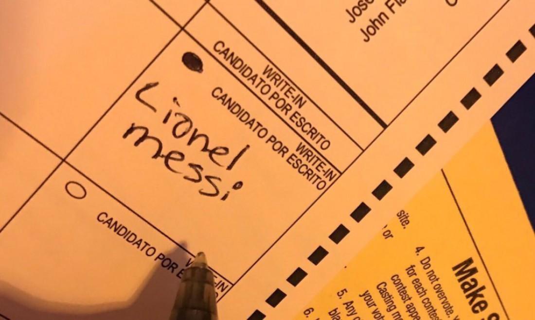 Лионель Месси получил один голос на выборах президента США