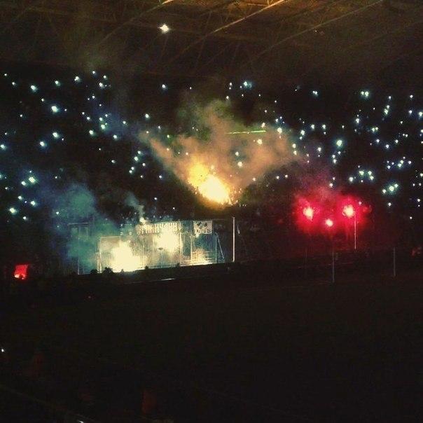 На стадионе Днепр Арена погас свет
