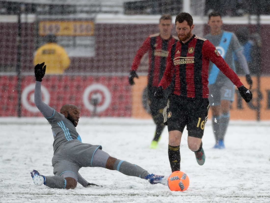 Матч между Миннесотой Юнайтед и Атлантой Юнайтед прошел при рекордно низкой температуре