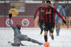 Жаркие фото самого холодного матча MLS