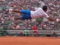 Теннисный полет и велопадение: Самые смешные курьезы недели