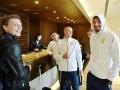 Сборная Украины отпраздновала выход из группы Лиги наций с легендой Милана