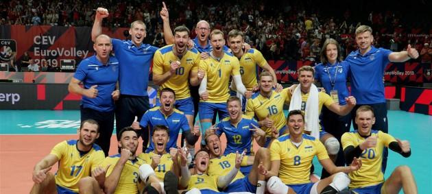 Сборная Украины по волейболу впервые пробилась в 1/4 финала чемпионата Европы
