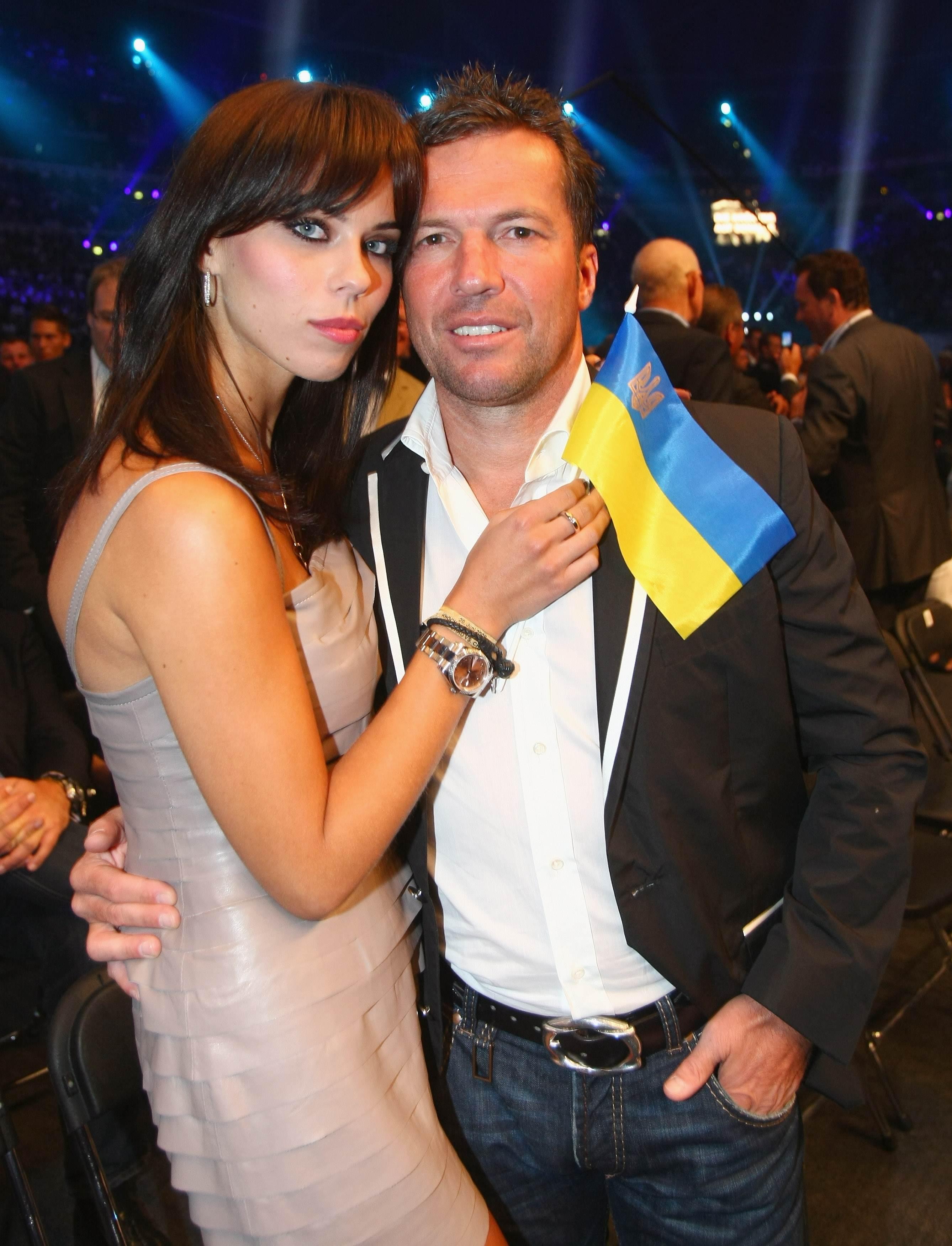 Легенда немецкого футбола Лотар Маттеус со своей женой моделью Кристиной Лилианой