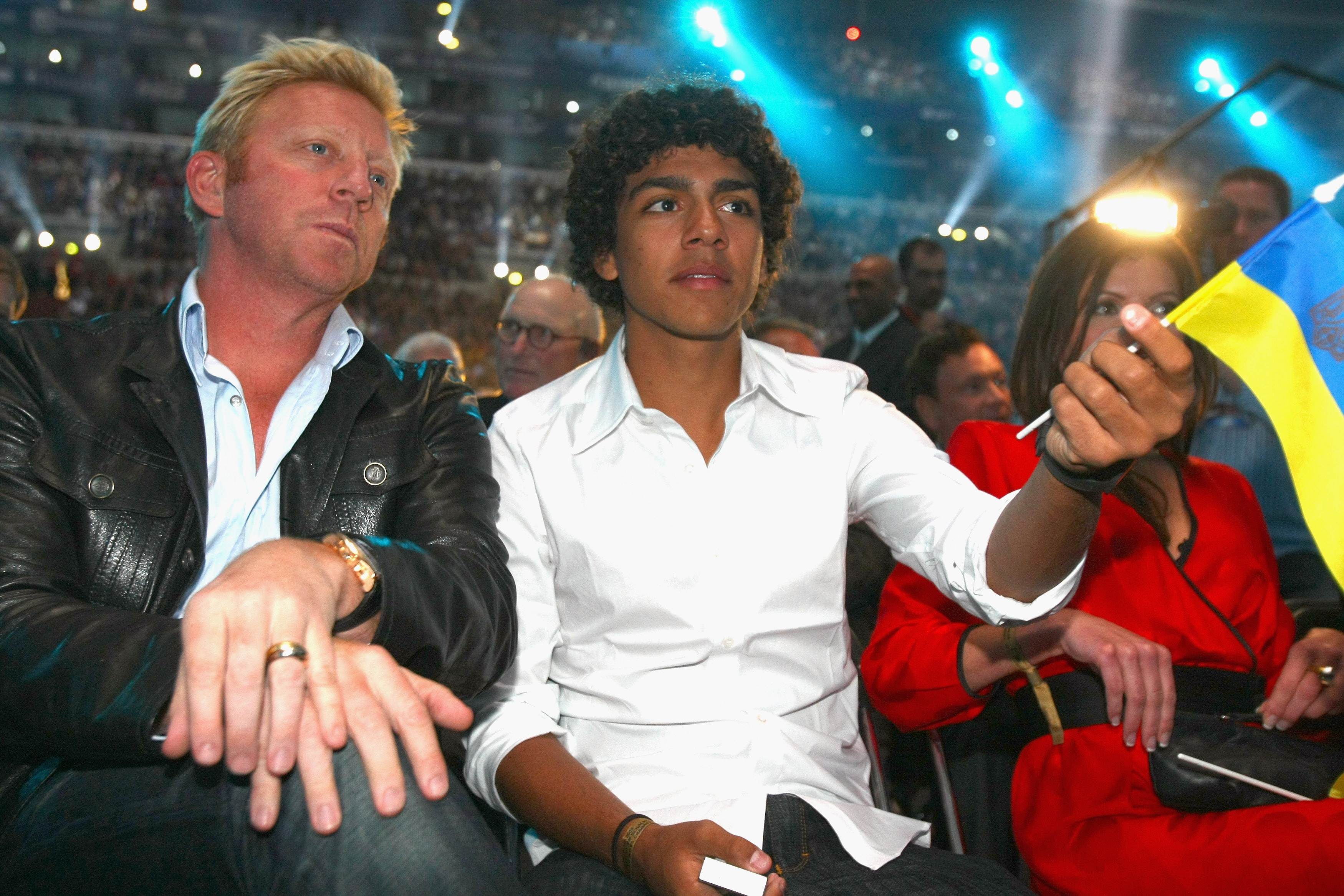 Легендарный теннисист Борис Беккер с сыном Ноа