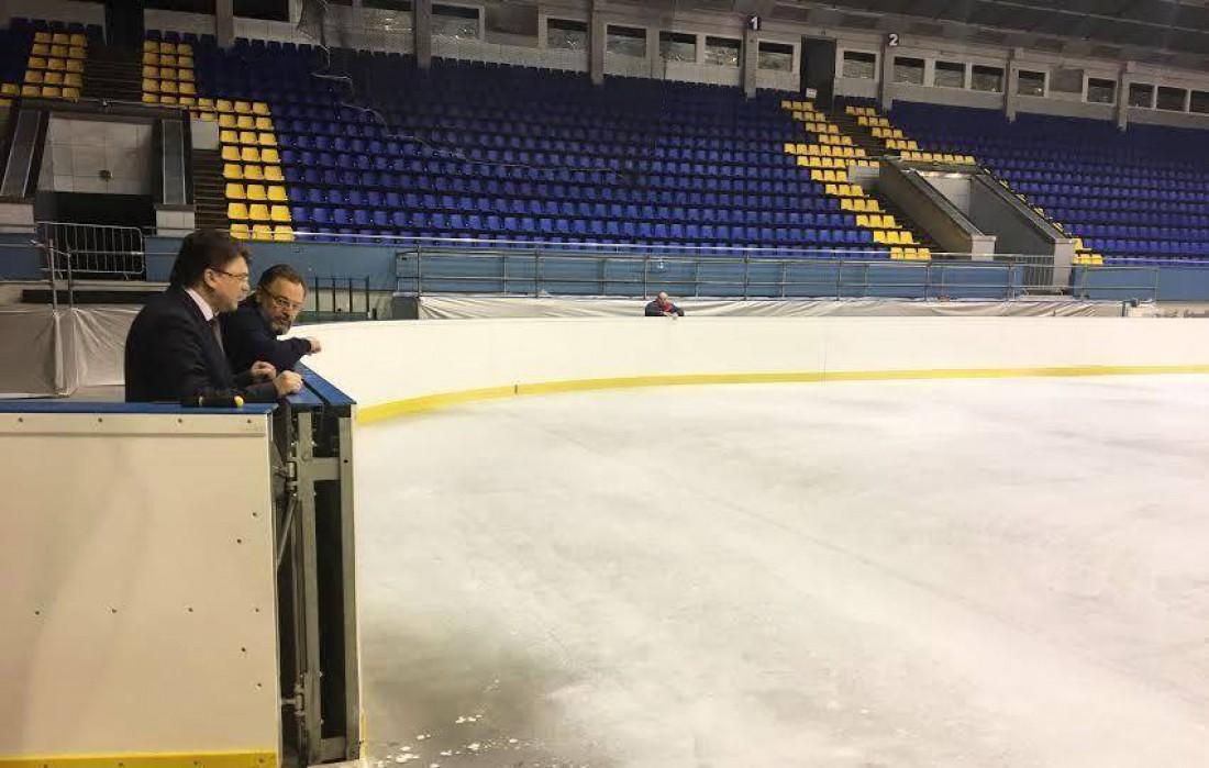Жданов проинспектировал Дворец Спорта