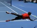 Летающий теннис: Видео удара французского спортсмена в падении на Australian Open