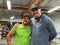 Ломаченко посетил тренировку Усика, который готовится к бою с Такамом