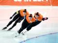 Конькобежный спорт. Победа и рекорд Нидерландов в мужской гонке